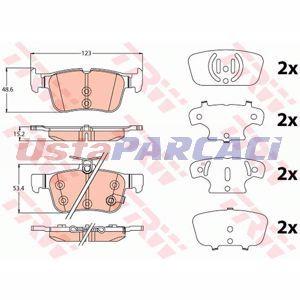 Ford Mondeo V 2.0 Hybrid 2014-2019 Trw Arka Fren Balatası UP1241711 TRW