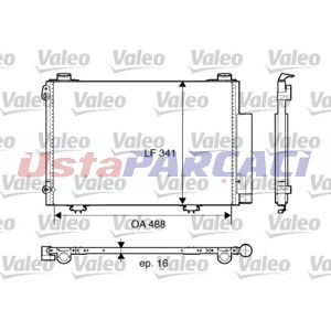 Toyota Yaris 1.5 2001-2005 Valeo Klima Radyatörü UP1110023 VALEO