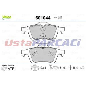 Ford Focus Iii Electric 2013-2019 Valeo Arka Fren Balatası UP965420 VALEO