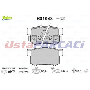 Honda Civic Viii 1.3 Hybrid 2010-2012 Valeo Arka Fren Balatası UP1262674 VALEO