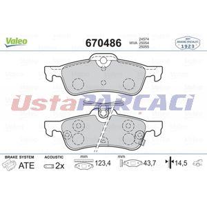 Honda Civic Viii 1.6 2012-2019 Valeo Arka Fren Balatası UP1266379 VALEO