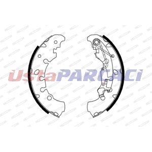 Opel Corsa D 1.2 Lpg 2011-2014 Ferodo Arka Fren Balatası UP917599 FERODO