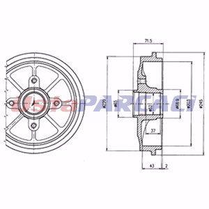 Citroen C3 I 1.4 16v 2003-2019 Delphi Arka Fren Kampanası UP1215525 DELPHI