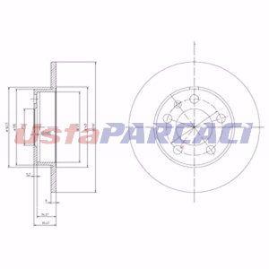 Vw Bora 1.6 Fsi 2002-2005 Delphi Arka Fren Diski UP1248057 DELPHI