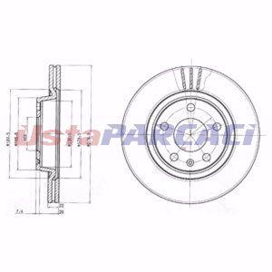 Vw Passat Variant 2.0 2000-2000 Delphi Ön Fren Diski 2 Adet UP1235518 DELPHI