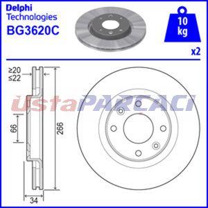 Peugeot 307 2.0 Hdi 90 2000-2007 Delphi Ön Fren Diski 2 Adet UP1263454 DELPHI