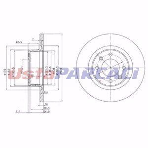 Citroen C5 Ii Break 2.0 Hdi 2004-2019 Delphi Arka Fren Diski UP1274388 DELPHI