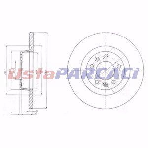 Fiat Scudo 1.6 D Multijet 2007-2019 Delphi Arka Fren Diski UP1240529 DELPHI