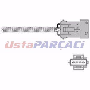 Citroen Xsara Coupe 1.8 I 16v 1998-2000 Delphi Oksijen Lambda Sensörü UP1284033 DELPHI