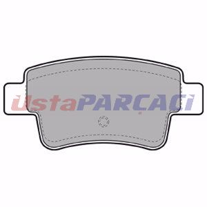 Citroen C4 Picasso I Mpv 2.0 Hdi 150 2009-2013 Delphi Arka Fren Balatası UP1251334 DELPHI