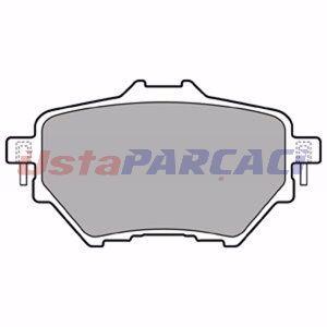Citroen C4 Picasso Ii 1.6 Hdi 90 2013-2019 Delphi Arka Fren Balatası UP1278943 DELPHI