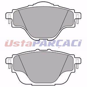 Citroen C4 Picasso Ii 1.6 Vti 120 2013-2019 Delphi Arka Fren Balatası UP1165102 DELPHI