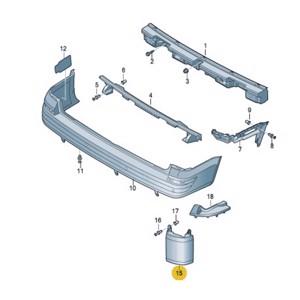 Arka TampÖn Kose Kaplaması Sol Transporter T7 16> BARCHA 7E0807321C BARCHA