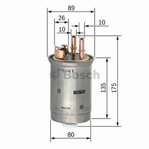 Yakıt Filtresi Fıesta 1,8 Dı 00- , Focus 1,8 Dı Tddı 98-04 75 Hp BOSCH 0450906357 BOSCH
