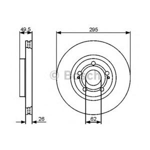 Ön Fren Aynası Diski Havalı Avensıs-corolla 1,6 1,8 2,0 2,2 04-> BOSCH 0986479454 BOSCH