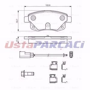 Opel Astra G 1.6 1998-2000 Bosch Oksijen Lambda Sensörü UP912276 BOSCH