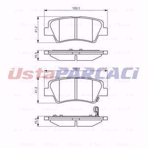 Hyundai Elantra Sedan 1.6 Crdi 2011-2015 Bosch Arka Fren Balatası UP1309333 BOSCH