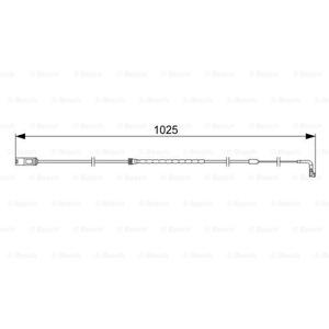 Bmw X6 Xdrive 35 I 2008-2014 Bosch Arka Fren Balata Fişi UP1092624 BOSCH