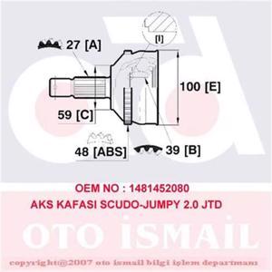 Aks Kafası Dış Scudo-jumpy 2.0 Jtd 99> Abs