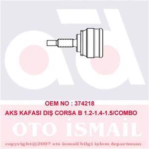 Aks Kafası Dış Corsa B 1.2ı-1.2ı 16v-1.4ı-1.5d(93-00)-combo 1.4-1.7 94-01 Abs