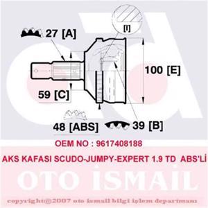 Aks Kafası Dış Scudo-jumpy-expert 1.9 Td 95> Abs