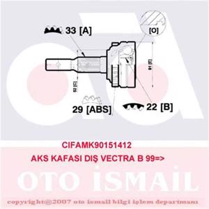 Aks Kafası Dış Vectra B 1.6ı-1.6ı 16v 95-02 Abs