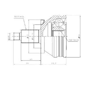 Aks Kafası Dış Polo-cordoba-fabıa 1.2 Tdi-1.4 Tdi Amf-bnv-bnm-cfwa)(303557) CIFAM 607414 CIFAM