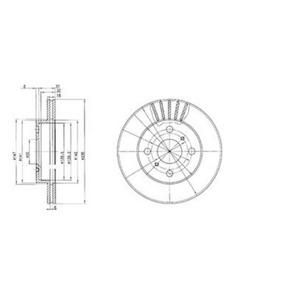 Ön Fren Aynası Diski Havalı Yaris 1,0/1,3/1,4 D-4d 99-> DELPHI BG3519 DELPHI