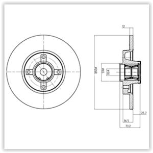 Arka Fren Aynası (diski) Adet C4 Grand Picasso-c4 Picasso-p3008-p5008-partner (poryali) DELPHI BG9053RS DELPHI