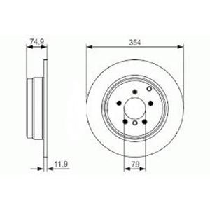 Arka Fren Aynası Ince Landrover Rangerover Sport 3.0 Td 6v 4.4 02=>05=> 4.2 05=> 3.6 Td8 06=>354-5 D FERODO DDF1518C-1 FERODO