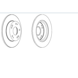 Arka Fren Aynası Civic Vii Hb Fd 1,4/1,8/2,2ctdi 01/06--> FERODO DDF1558 FERODO