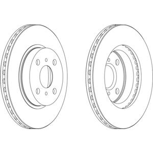 Ön Fren Aynası Havalı Corolla 1,4-1,6-2,0d 92-97 FERODO DDF794 FERODO