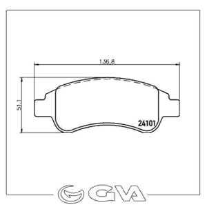 Ön Balata P206-p207-p307-part-berl-301 Elyas-c2-c3-c4--xsara Ym 03>arka Disk Ducato-box 07>gdb1563 GVA 7043235 GVA