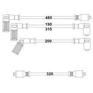 Buji+bobin Kablosu Dkş S-sl-slx-uno-tmpr-tıpo 1.4-1.6 8v Uzunlama Motor) HELLUX HBK.3161 HELLUX