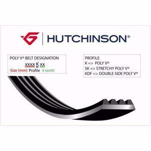 (1090 Sk 6 Kanallı Kayış C2-c3-c4-p207-p307 1.4 1.6 Hdi HUTCHINSON 6PK1090SS HUTCHINSON
