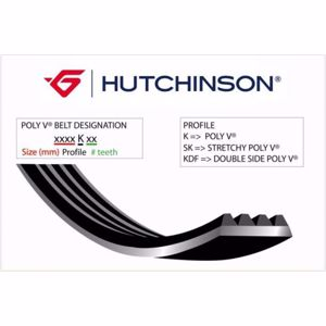 (1710 K 6 Kanallı Kayış Pejo-ford 1.4-1.6 Hdi HUTCHINSON 6PK1710 HUTCHINSON