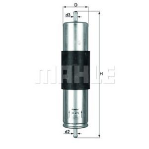 Yakıt Filtresi Bmw X5 3,0d 03-->  MAHLE KL473 MAHLE