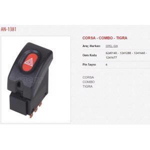 Flasor Anahtari Corsa - Combo - Tigra Flasor An. MCAR AN-1381 MCAR