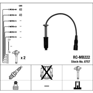 Buji Kablosu Rc-mb222 NGK 0757 NGK