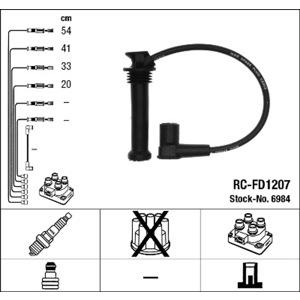 Buji Kablosu Rc-fd1207 NGK 6984 NGK
