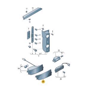 Arka TampÖn Reflektoru Sol Crafter Sprinter 06>16 PLASTECH P12175 PLASTECH