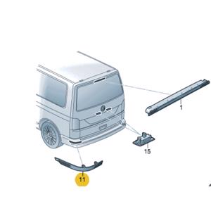 Arka TampÖn Reflektoru Sağ Transporter T7 16> PLASTECH P12274 PLASTECH