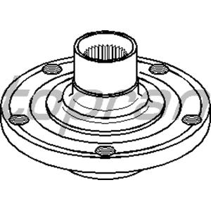 Ön Teker Poryası Passat-a4-a6 1.6-1.8-1.9-2.0 97-05)-skoda Superb 1.8-1.9-2.0 02-08) TOPRAN 108952756 TOPRAN