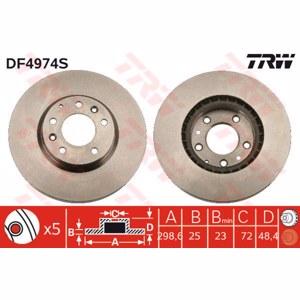 Ön Fren Aynası Havalı Mazda 6 1,8/2,0/2,5/2,0cd/2,2cd/2,2d TRW DF4974S TRW