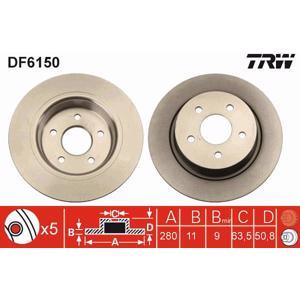 Arka Fren Aynası C-max Ii / Grand C-max 1,0 Ecoboost/1,6 Ti/1,6 Tdci/2,0 Tdci 12/10- Kuga Ii 1,6 Eco TRW DF6150 TRW