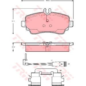 Ön Fren Balatası Vaneo 1,6,1,7 Cdı,1,9 2002- TRW GDB1480 TRW