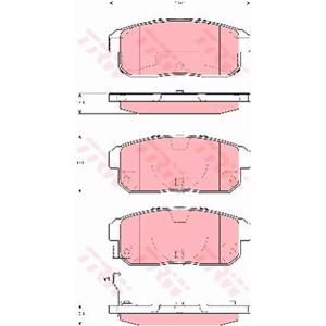 Arka Fren Balatası Rx 82,6 10 03- TRW GDB3357 TRW