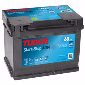 Aku 12v 60 Ah Start Stop Agm L02 (242x175x190) TUDOR TK600 TUDOR