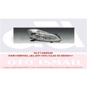Far+sinyal Sağ Elektrikli H7+h7 Clio 3 09 05-> VALEO 088948 VALEO