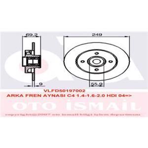 Arka Fren Aynası Rulmanli Ad P307 01-07 - C4 1,4ı 1,6 Hdi 1,6ı 2,0 Hdi 2,0ı Cap 30 Mm 04-> VALEO 197002 VALEO